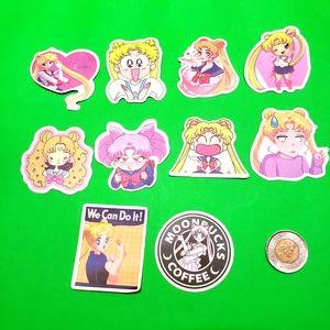 3/$20 10x brand new Sailor Moon waterproof sticker